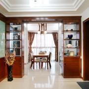 现代美式家居隔断置物柜装修设计效果图