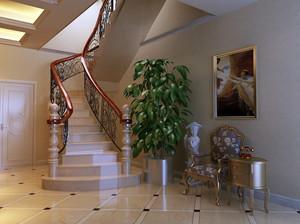 复式楼新古典家居楼梯装修设计图