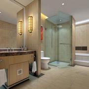 现代简约清新风格原木卫生间装修效果图