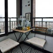 小户型简约风格阳台桌椅装饰