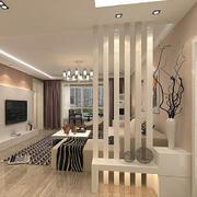 韩式简约客厅玄关隔断装修设计效果图