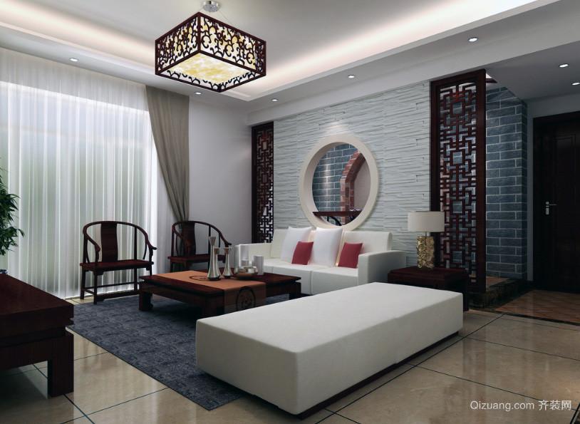 现代大户型精致中式客厅装修效果图