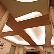 125㎡经典美式大户型客厅吊顶装修效果图