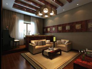 88平米宜家小户型清新甜美客厅简约吊顶效果图