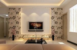 三居室宜家风格客厅电视背景墙效果图