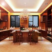 复式楼实用型厨房设计效果图