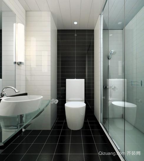 后现代风格经典黑白色卫生间装修效果图