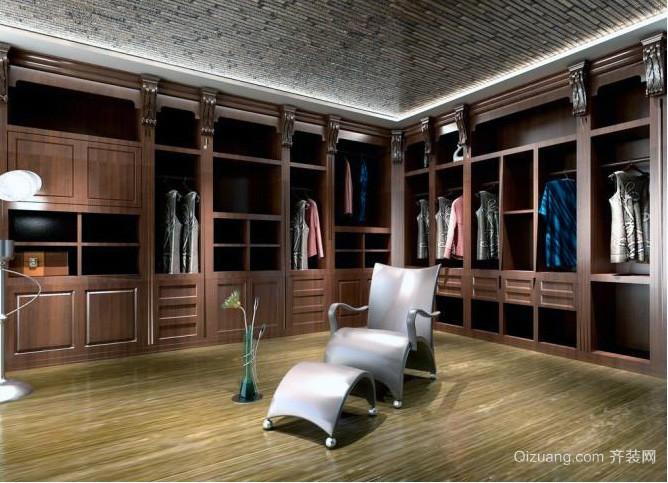 大户型现代欧式整体衣柜设计效果图