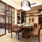 120平米家居厨房推拉门隔断设计效果图