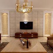 大户型自然风格客厅电视背景墙效果图