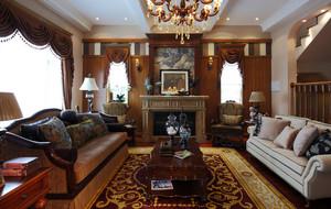 136平米法式风格客厅装修效果图