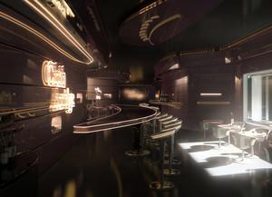现代简约时尚酒吧前台吧台装饰效果图