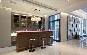 120平米公寓精致吧台设计装修效果图
