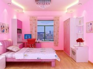 复式楼自然风格卧室装修效果图