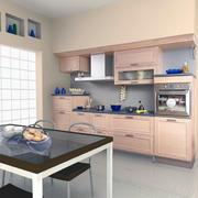 欧式小户型整体厨柜装修效果图