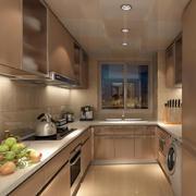 三居室简约风格厨房装修效果图