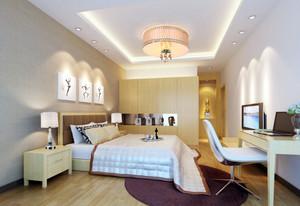 都市风格简约白色系卧室装修效果图