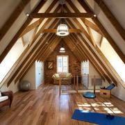 自然舒适的阁楼瑜伽房装修效果图大全