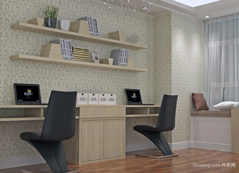 精致独特的现代小户型小书房装修效果图