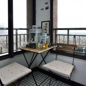 北欧小户型简约阳台吧台装饰效果图