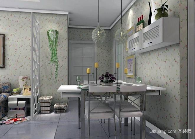 两室一厅韩式清新风格别致餐厅装修效果图