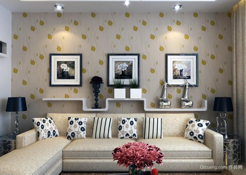 现代欧式大户型沙发背景墙装修效果图