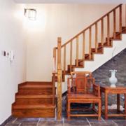 2015七十平米美式复古小户型复式楼梯装修效果图