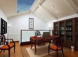 中式小阁楼书房装修效果图大全