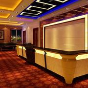 后现代风格酒店简约前台吧台装饰效果图