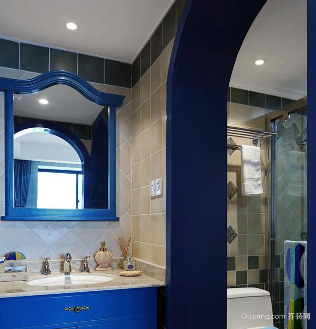 混搭风格小卫生间瓷砖装修效果图