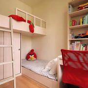 100平米房屋儿童房上下铺装饰