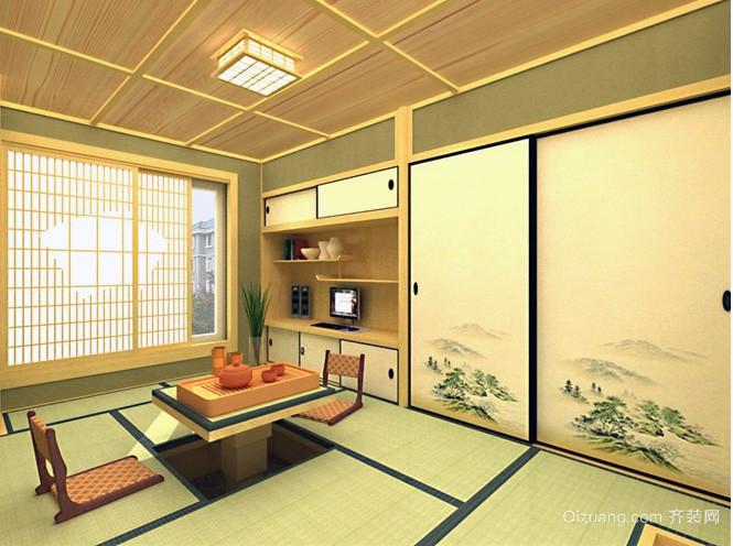 舒适轻松的日式榻榻米装修效果图
