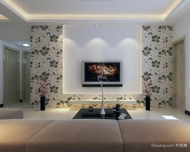 大户型欧式简约电视背景墙装修效果图