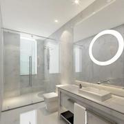 大户型纯白色调卫生间装修效果图