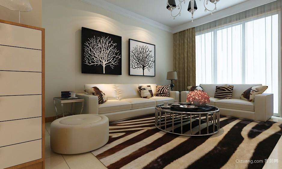 跃层都市风格客厅装修效果图