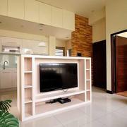 100平米房屋简约风格客厅电视背景墙装饰