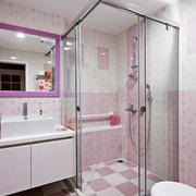 粉色甜美卫生间展示