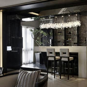 现代公寓摩登吧台酒柜装修设计效果图