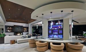 70平米超简新古典小户型客厅吧台装修效果图