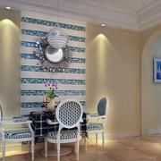 现代大户型欧式餐厅背景墙装修效果图