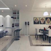 大户型100平米别墅客厅吧台装修效果图