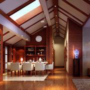 138平米现代风格斜顶阁楼装修效果图