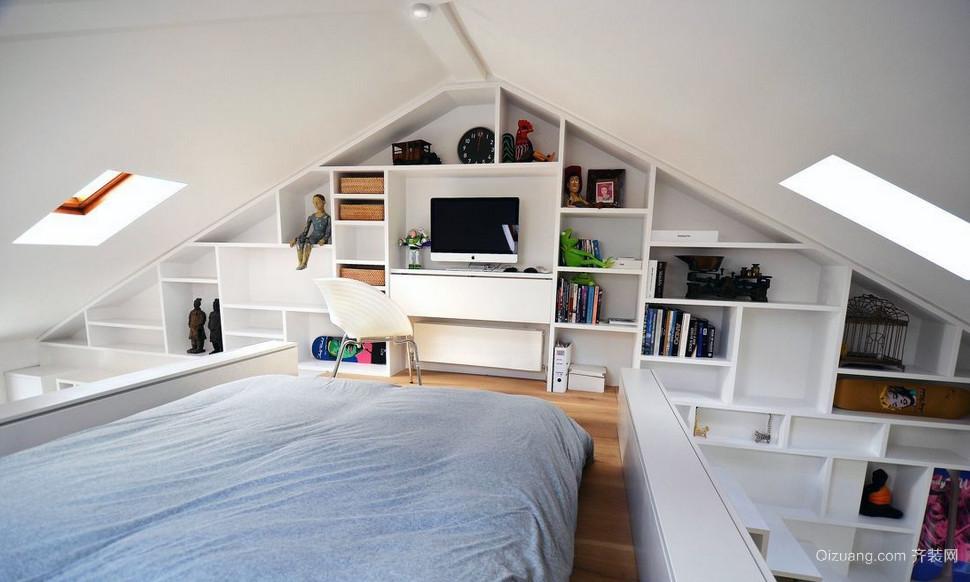 85平米小户型宜家斜顶阁楼装修效果图