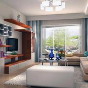 七十五平米宜家温馨小户型客厅创意吧台装修效果图