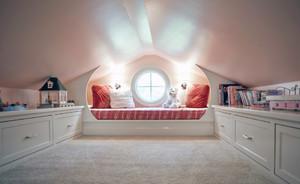 90平米精致梦幻地中海大户型斜顶阁楼装修效果图