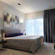 现代简约风格样板房卧室飘窗装饰
