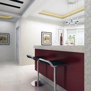 98平米经典唯美大户型地中海客厅吧台装修效果图