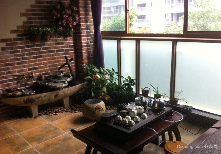 中式古典家居入户花园装修效果图