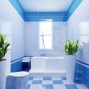 天蓝色时尚卫生间