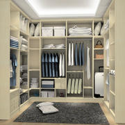 单身公寓时尚风格步入式衣帽间装修效果图